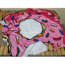 Пляжное покрывало Пончик микрофибра коврик подстилка