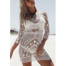 Туника пляжная ажурная белая для фотосессий