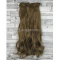 Волосы на заколках набор коричневые светлые №12 волнистые трессы из 6 тресс 16 клипс