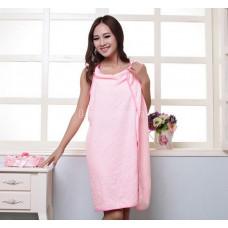 Халат - полотенце из микрофибры 150*80 Розовое 340г