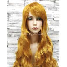 Парик блонд желтый золотой волнистый 80см