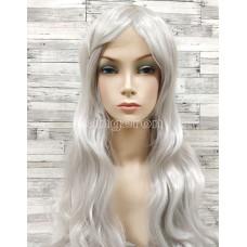 Парик серый волнистый 80см искусственные волосы аниме карнавальный косплей cosplay