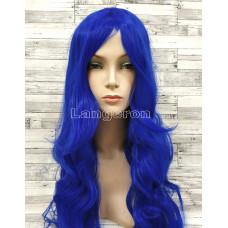 Парик искусственные волосы аниме синий карнавальный косплей cosplay