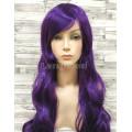 Парик фиолетовый волнистый 80см искусственные волосы аниме карнавальный косплей cosplay
