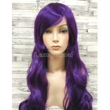 Парик искусственные волосы аниме темно-фиолетовый карнавальный косплей cosplay