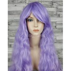 Парик волнистый аниме фиолетовый светлый с челкой