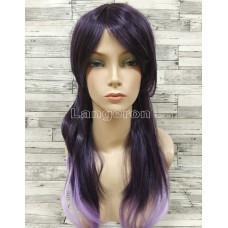 Парик волнистый двухцветный фиолетовый