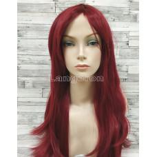 Парик бордовый прямой 70см искусственные волосы аниме косплей cosplay