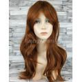 Парик коричневый волнистый 60см искусственные волосы аниме косплей cosplay