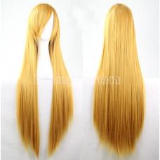 Парик искусственные волосы аниме блонд желтый карнавальный косплей cosplay прямой ровный