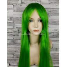 Парик искусственные волосы аниме зеленый карнавальный косплей cosplay прямой ровный