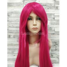 Парик ярко-розовый малиновый прямой длинный аниме косплей cosplay