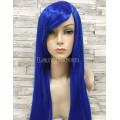 Парик синий ровный 80см искусственные волосы аниме карнавальный косплей cosplay