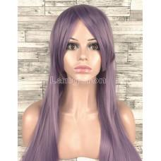 Парик фиолетовый прямой 80см искусственные волосы аниме карнавальный косплей cosplay прямой ровный