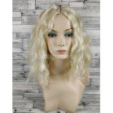 Парик блонд волнистый 40см каре с пробором без челки