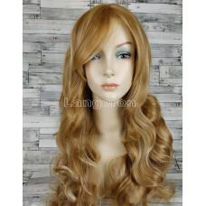 Парик блонд волнистый 65см с пробором и челкой