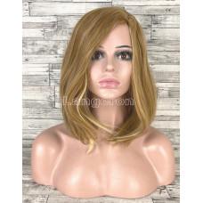 Парик блонд каре 40см с боковым пробором без челки