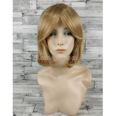 Парик блонд каре 33см прямой с косой челкой русый пшеничный