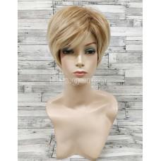 Парик блонд прямой 15см короткий для женщин блонд