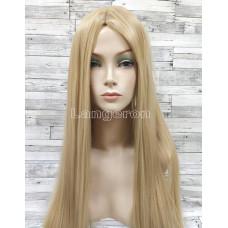 Парик длинный прямой блонд с пробором