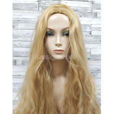 Парик блонд волнистый 75см мелирование с пробором без челки