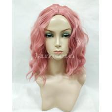 Парик каре с пробором волнистый розовый