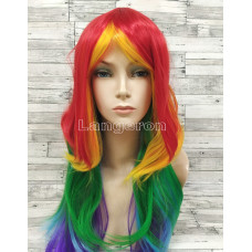 Парик искусственный little pony карнавальный rainbow dash радуга дэш