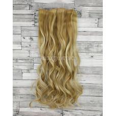 Волосы на заколках набор блонд мелирование №18H613 волнистые трессы из 6 тресс 16 клипс
