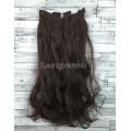 Волосы на заколках набор коричневые №4 16 темно коричневый волнистые трессы из 6 тресс 16 клипс