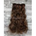 Волосы на заколках набор коричневые №2-30 волнистые трессы из 6 тресс 16 клипс