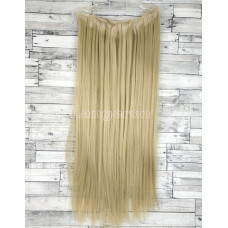 Волосы на заколках набор блонд №16/613 волнистые ровные трессы из 6 тресс 16 клипс