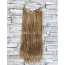 Трессы блонд ровные набор 24/27 волосы на заколках 6 прядей 16 клипс 140г