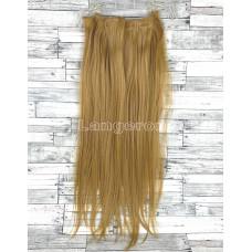 Трессы прямые блонд пшеничный набор 55см волосы на клипсах