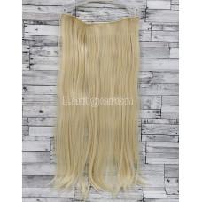 Трессы ровные блонд на ленте 60см 130г прямые искусственные термостойкие волосы на клипсах №613