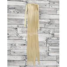 Хвост прямой блонд №613 60см 100г