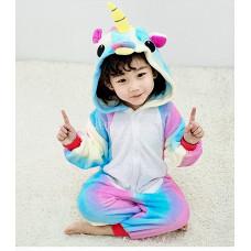 Пижама Единорог радужный на рост 125-130см вид№2 кигуруми