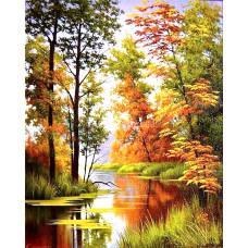 Картина для выкладывания камнями Осенний пейзаж 30*40см
