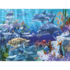 Картина для выкладывания камнями Морские обитатели 30*40см