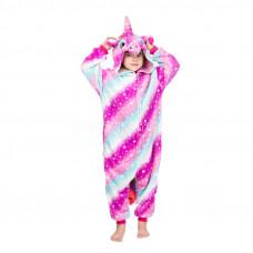 Пижама Единорог звездный фиолетовый/голубой на рост 125-130см