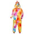 Пижама Единорог звездный оранжевый/желтый на рост 115-120см кигуруми