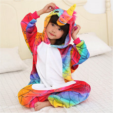 Пижама Единорог морской на рост 115-120см огненный чешуйчатый Кигуруми, дитяча