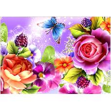 Картина для выкладывания камнями Розы размер 24*34см