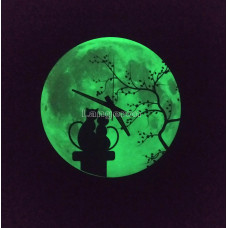 Часы настенные светящиеся в темноте Коты на крыше 30см