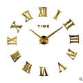 Часы 3d объемные разборные с римск цифрами золото до 1м