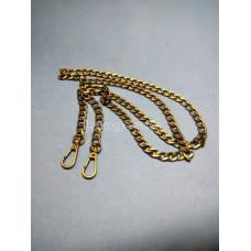 Цепочка-ручка для сумки  110 см 11мм   цвет антик  металл  с карабинами вес 125гр.