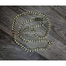 Цепочка-ручка для сумки  110 см 12мм цвет золото сплав с карабинами вес 70 грамм
