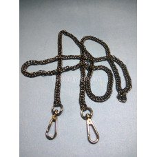 Цепочка-ручка для сумки  120 см 7мм  цвет  черная двойное плетение  вес 87гр.