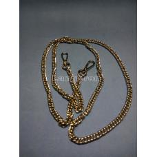 Цепочка-ручка для сумки  120 см 7мм  цвет  серебро  двойное плетение вес 87гр.