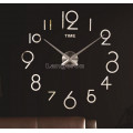 Настенные объемные часы до 1м с арабскими цифрами diy сделай сам Art Clock 3d цвет серебро