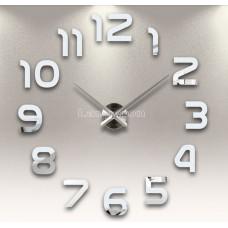 Настенные часы объемные 1м с римскими цифрами серебро  diy сделай сам зеркальные